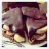 Šokoladinis- bananinis tortas