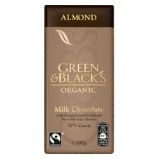 Pieniškas šokoladas su migdolais, ekologiškas (100 g)