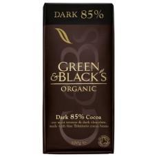 Juodasis šokoladas 85%, ekologiškas (100g)